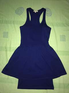 Royal blue flowy dress - very flattering!! (slightly used but in very good condition)