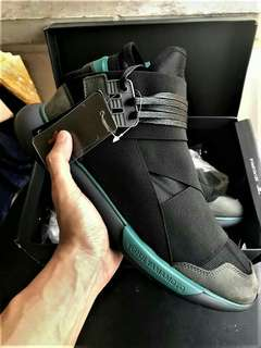 Adidas Y3 Yohji  Yamamoto Qasa High Black Charcoal PK perfect kicks