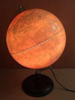 夜光地球儀 發光地球儀  燈泡地球儀 夜燈地球儀 小夜燈 地球儀