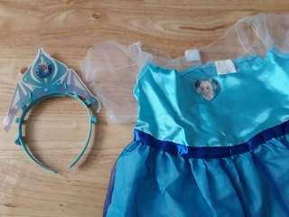 Disney Frozen Elsa Costume with Disney Frozen Glow Headband