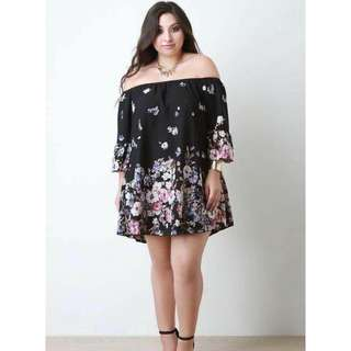 PLUS SIZE OFFSHOULDER DRESS