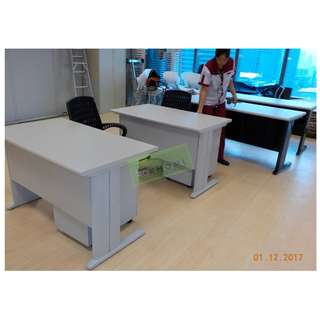 OFFICE TABLES AND MESH OFFICE CHAIRS--KHOMI