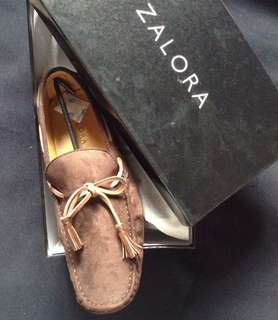 Zalora Faux Suede Mocassin Shoes