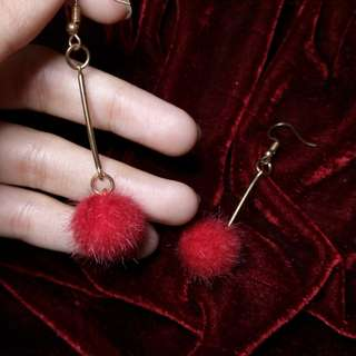 Red Dangling Earrings