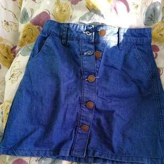Glassons Blue Denim Skirt