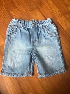 Mothercare denim shorts