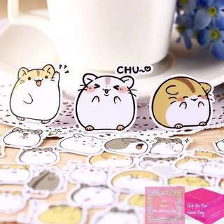 Set of 40pcs Cute Chubby Hamster Sticker Pack