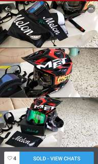 MET FULL helmet with 2 goggles $$neg if seriously keen.0