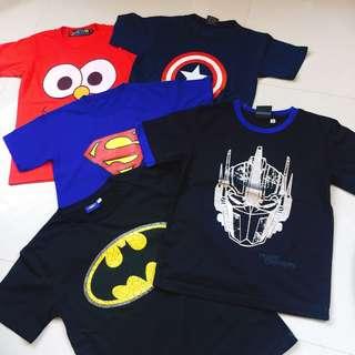 Character Shirts (5pcs)