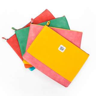 Hello Color Leather Pouch A4