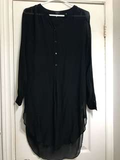 Aritzia Babaton sheer tunic dress