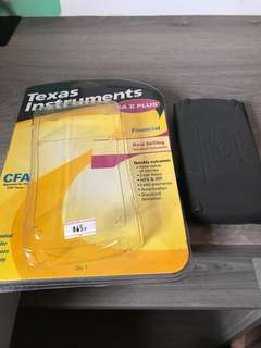 Lightly used cfa Texas Instruments calculator