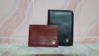 rolex  bifold card wallet