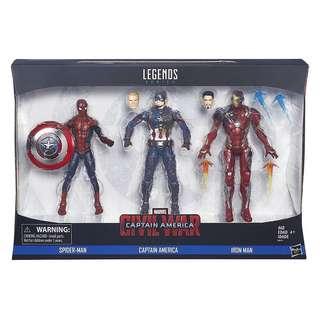 Marvel Legends Civil War 3 pack