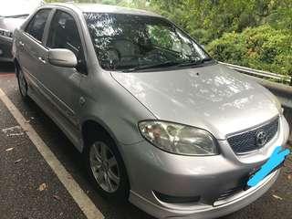 Toyota vios V1 1.5 auto 2007 RM5,000 CASH