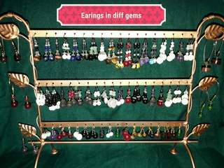 Earing in different gemstones and designs