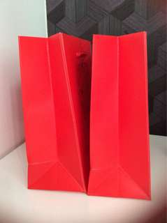 Red wedding paper bag for souvenirs