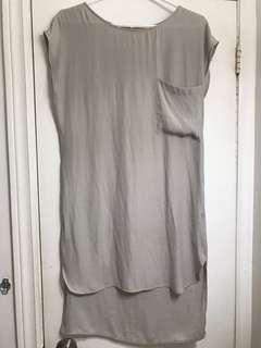 Oak and Fort crepe shirt dress (grey)