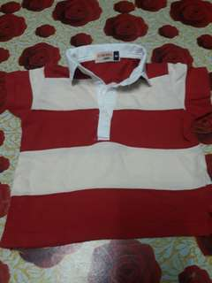 Collar stripe shirt