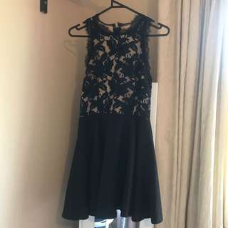 Princess polly black and nude lace dress