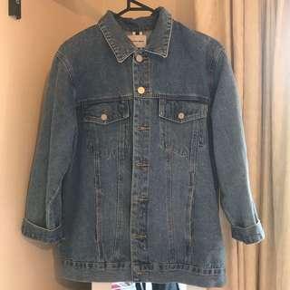 A brand denim jacket