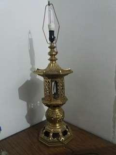 Brass Pagoda Lamp