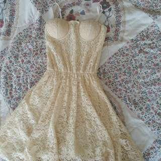 Lace Cream Dress