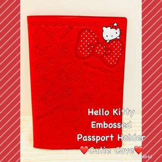 *NEW IN IN SG* Hello Kitty Embossed Passport Holder