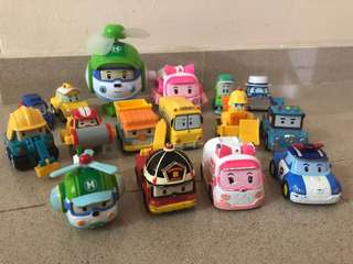 Robocar Poli diecast set of 14