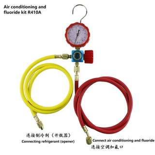 R410 R22 air conditioning refrigerant pressure detection and fluoride kit