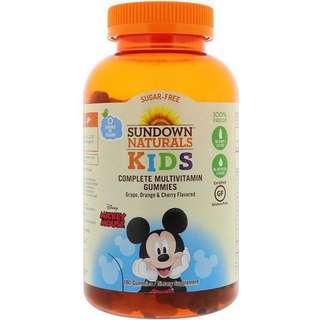 代購美國空運 Disney 迪士尼米老鼠兒童綜合維他命軟糖 軟糖 180顆 有葡萄 、橙、櫻桃口味【buy貨公司】