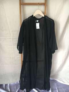 H&M long sheer robe