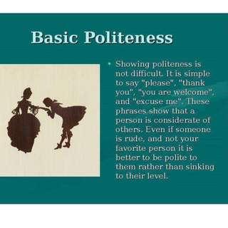 #blessing Basic Politeness