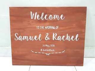Customised Wedding Wooden Sign