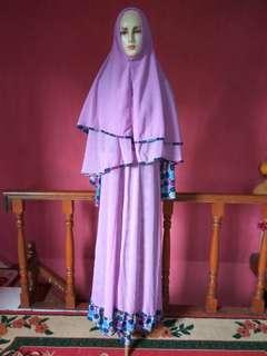 gamis wanita purple