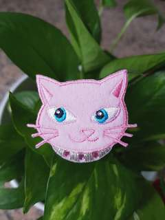 Iron On Patch/ Applique   ↪ Pink Cat  💱 $3.90 Each Piece