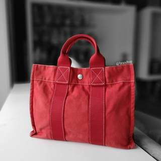 Authentic Hermes Red Herline Tote