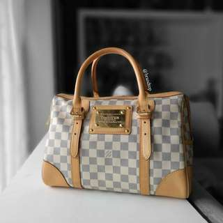 Authentic Louis Vuitton Damier Azur Berkeley N52001 LV