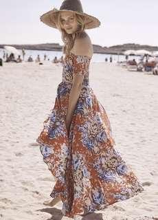 Auguste Boheme Goddess Maxi Texan Bloom Fire Engine Dress RRP $159 size 10