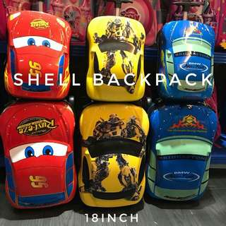 Set Cars Luggage 3D ( Shell Backpack + Luggage 18')