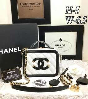 Chanel Small CC Filigree Vanity Case Bag