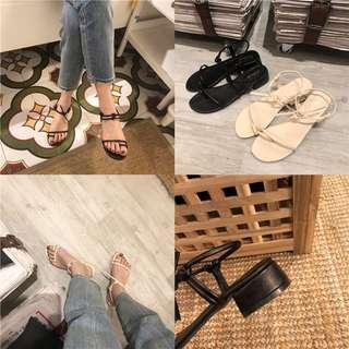 ❤️實拍🇰🇷韓國淨色簡約氣質涼鞋