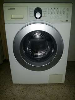 Used Samsung front load hot washer 7.5kg washing machine mesin basuh stainless steel drum fully automatic