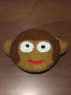 Fully Beaded Monkey coin purse