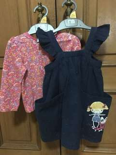 Sale set dress mothercare size 9-12m, up to80cm