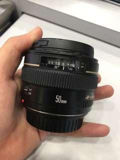 Canon 50mm F1.4 EF USM LENS