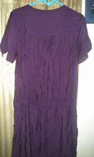 Dress ungu bigsize jumbo