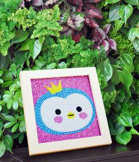 Diamond art frame for kids - diy