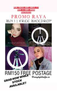 Free Backdrop RINGLIGHT ADJUSTABLE