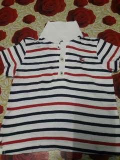 Burberry baby collar stripe shirt